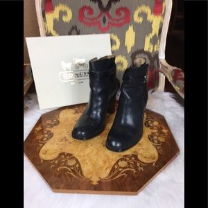 Coach Kasandra Veg Leather Ankle Boots